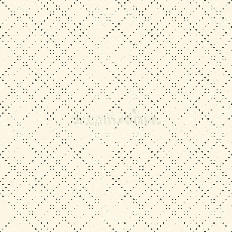 Seamless Halftone Pattern. Vector Black and White Pixel Minimalistic Background royalty free illustration