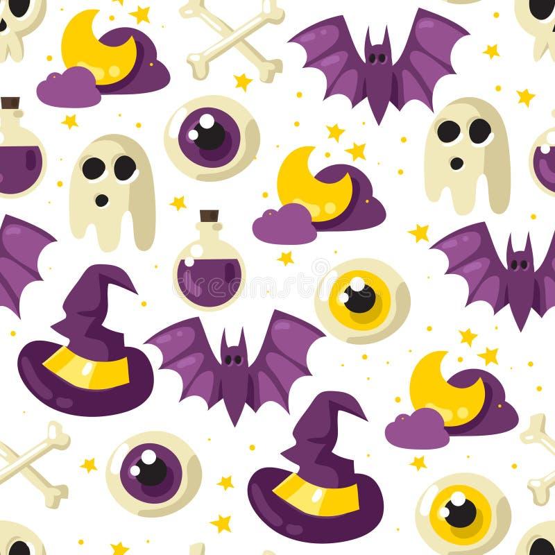 seamless halloween modell royaltyfri illustrationer