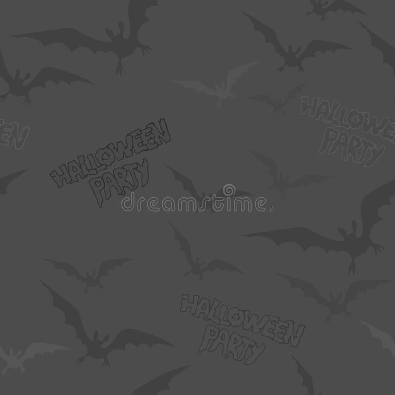 Seamless Halloween texture with a flying bat. royalty free stock image
