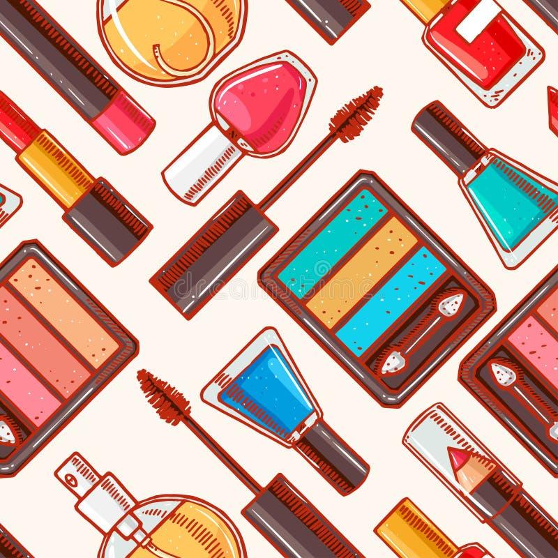 Free Seamless Hand-drawn Decorative Cosmetics - 1 Royalty Free Stock Photo - 49097815