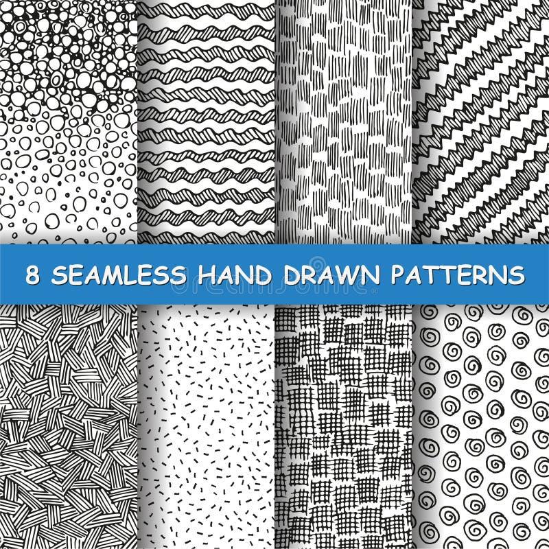 Seamless hand drawn pattern. stock photos