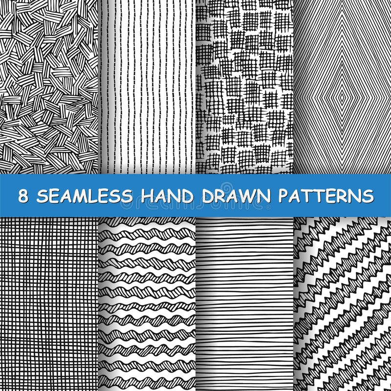 Seamless hand drawn pattern. royalty free illustration