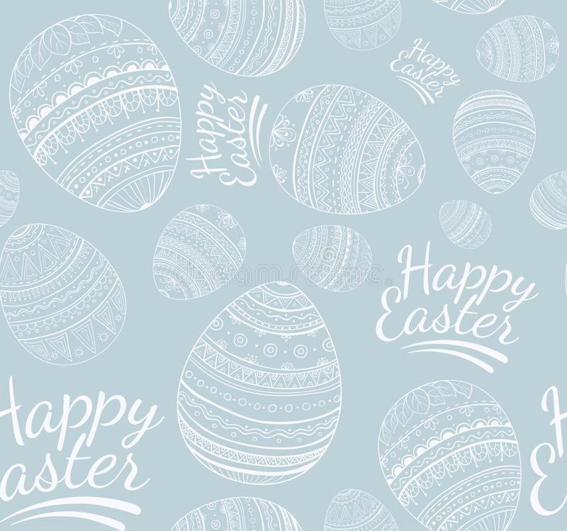 Seamless happy easter pattern vector illustration