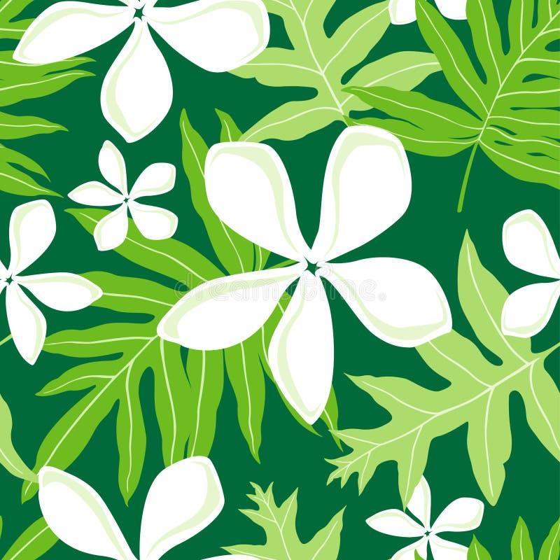 seamless hawaianska lauae för fern stock illustrationer