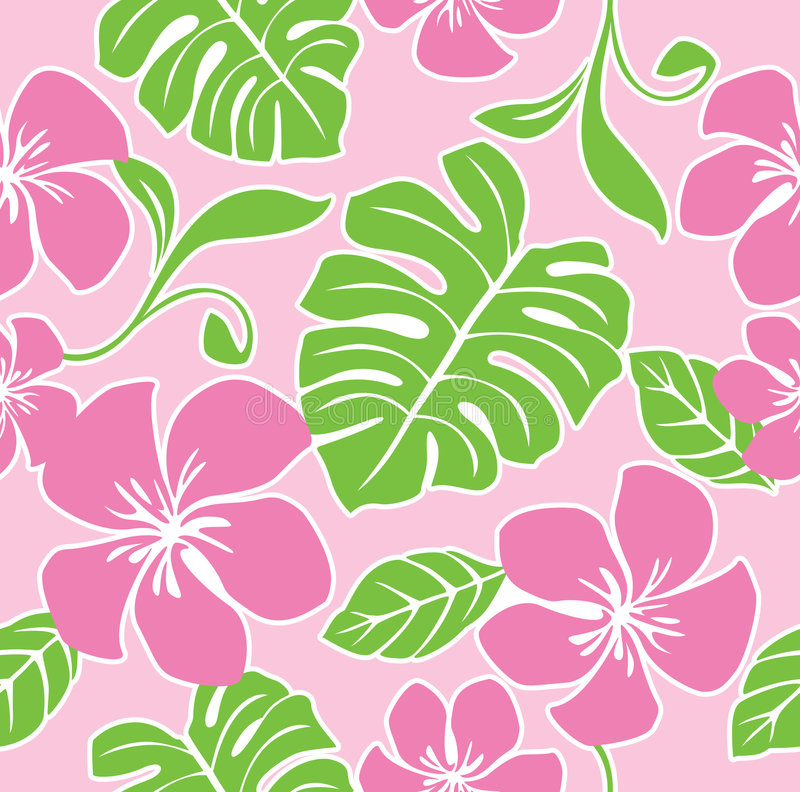Seamless Hawaii Summer Pattern royalty free illustration