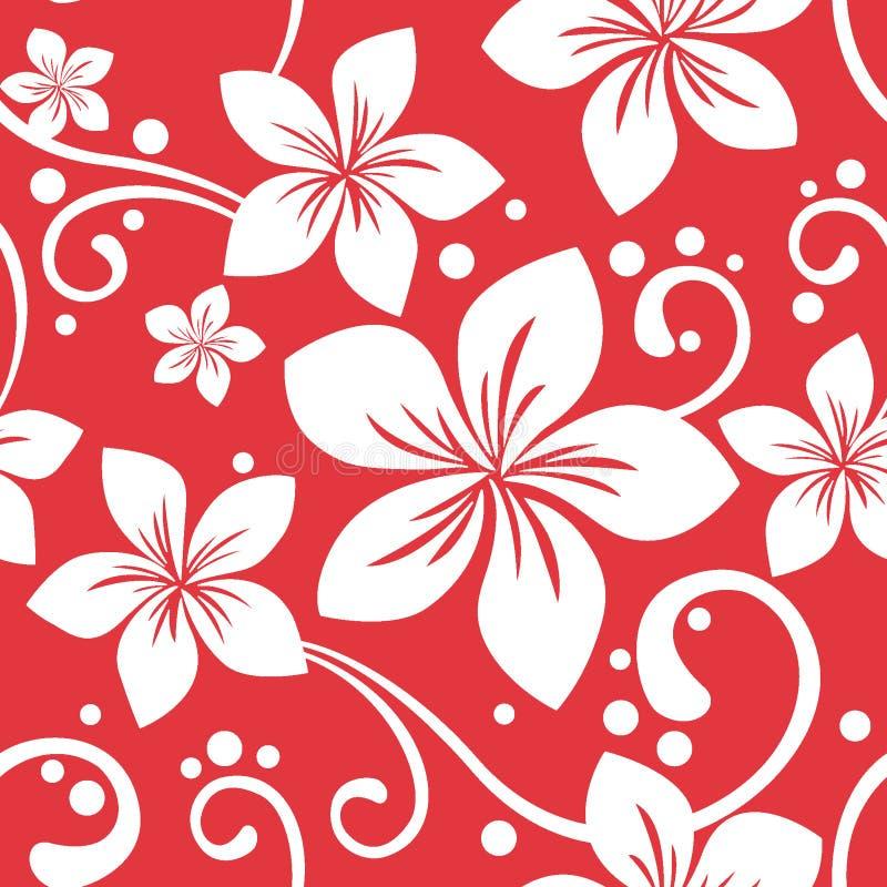 Seamless Hawaiian Xmas Pattern stock illustration