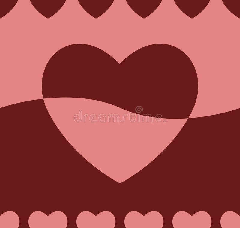 Seamless Heart Background royalty free stock images