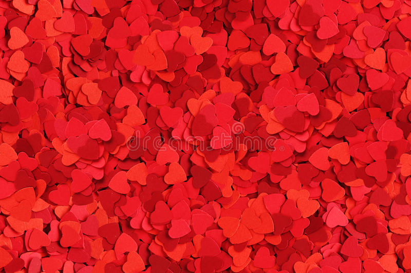 Seamless heart background. Seamless background made od small paper hearts, Valentines day concept royalty free stock image