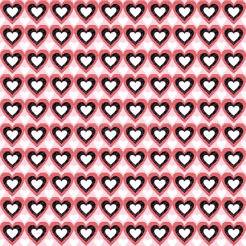 Seamless Heart Background. Vector Pattern. stock illustration