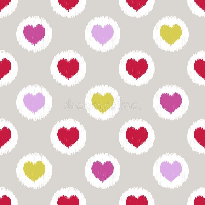 Seamless heart geometric pattern royalty free illustration