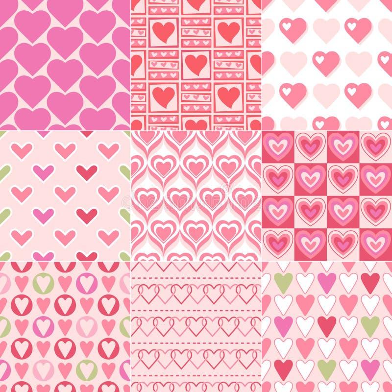 Seamless heart pattern stock illustration