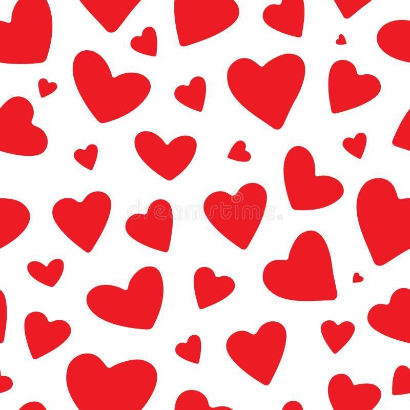 Seamless heart pattern vector illustration