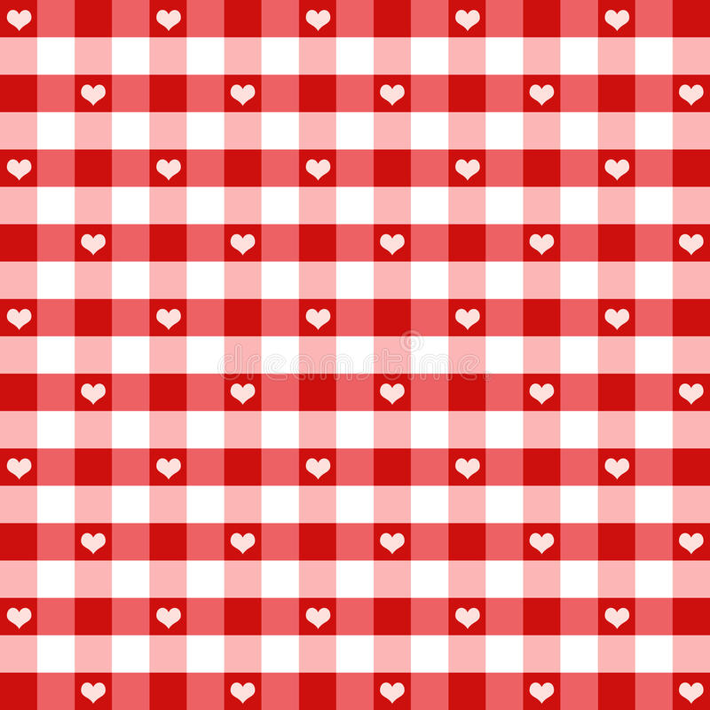 Download Seamless Hearts & Gingham stock vector. Illustration of square - 16721421