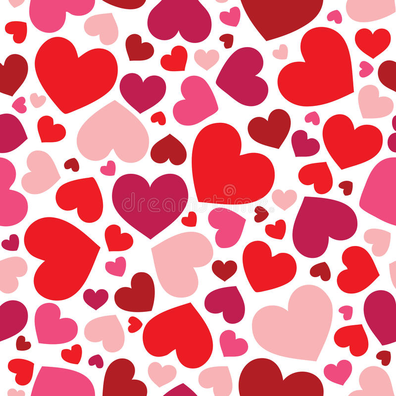 Download Seamless hearts pattern stock vector. Image of pink, holiday - 12860347