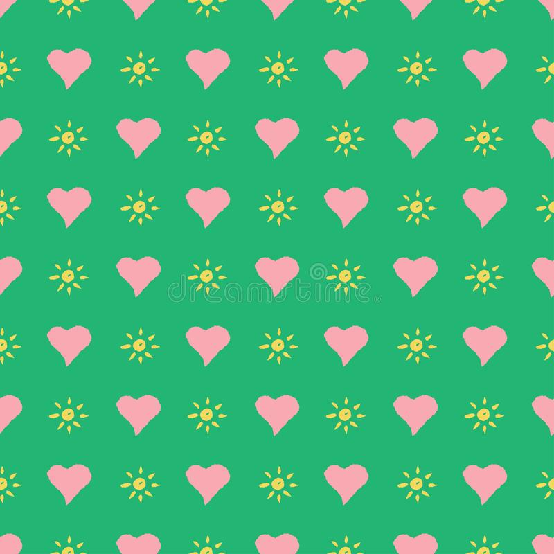 Seamless hearts pattern. Vector repeating texture. Valentines day or wedding decoration royalty free illustration