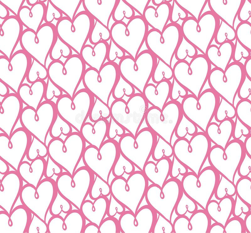 Seamless hearts pattern. Vector repeating texture.valentin muster. Seamless hearts pattern. Vector repeating texture. valentin muster stock illustration