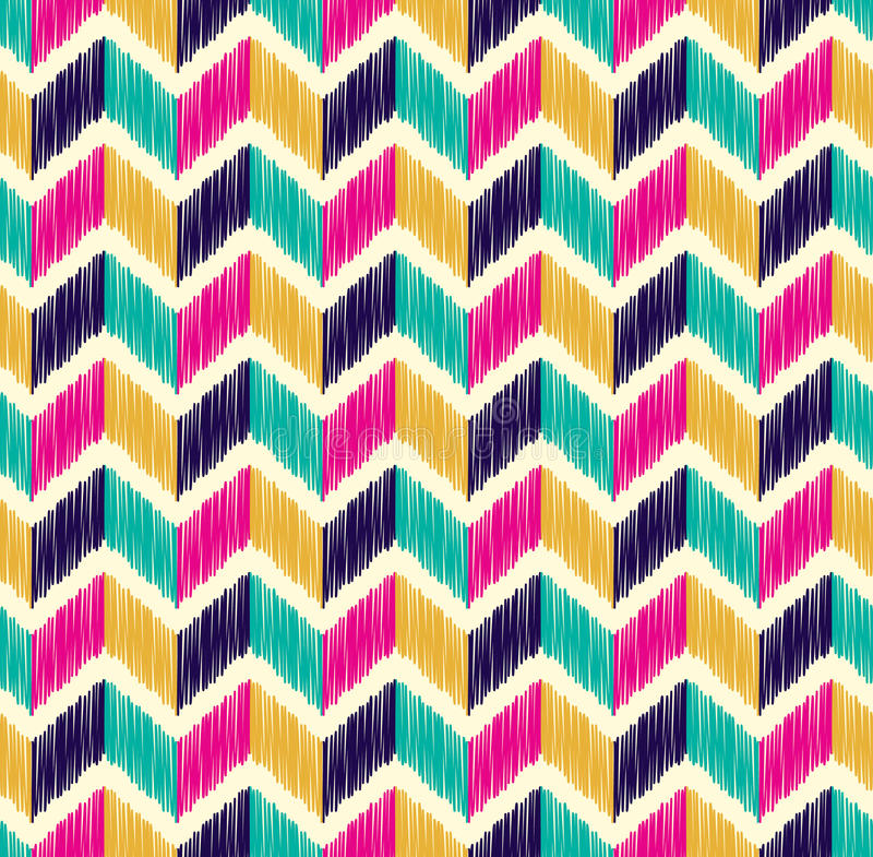 Seamless herringbone tiles colorful pattern vector illustration