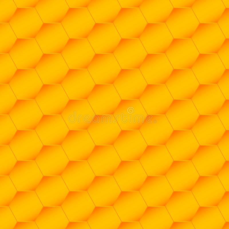 Seamless hexagons pattern. Honeycomb background from a bee hive. Vector illustration of geometric texture. Pattern for web, print royalty free illustration