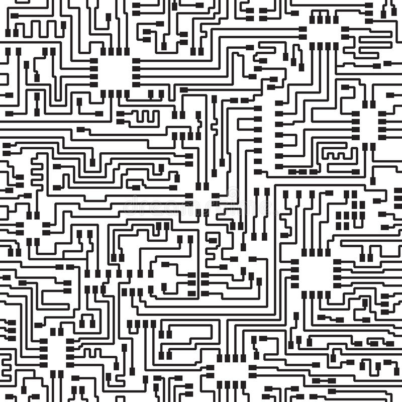 Free Seamless Hi-tech Electronic Vector Pattern Royalty Free Stock Photography - 20959647