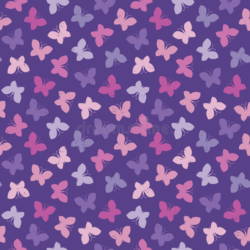 Seamless hipster background butterflies pink purple royalty free illustration