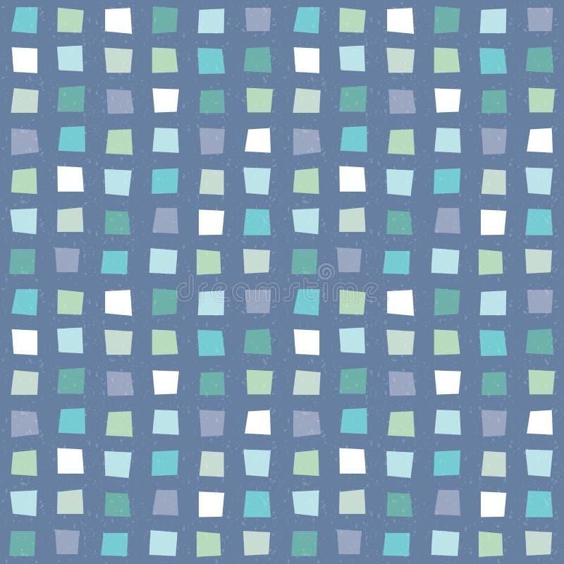 Seamless hipster geometric pattern aqua blue navy vector illustration