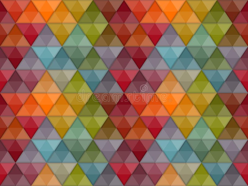 Seamless Hipster Geometric Pattern royalty free illustration