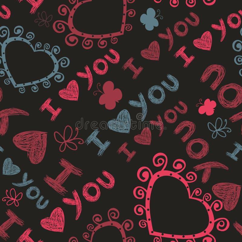 seamless hjärtamodellromantiker stock illustrationer