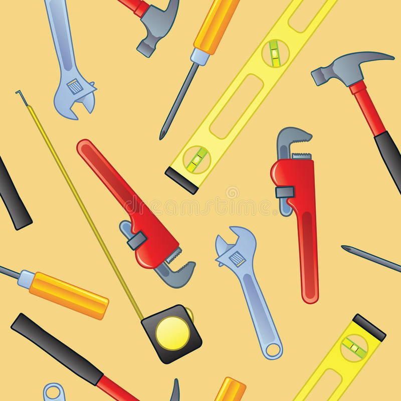 Seamless Home Improvement Tools Royalty Free Stock Photo