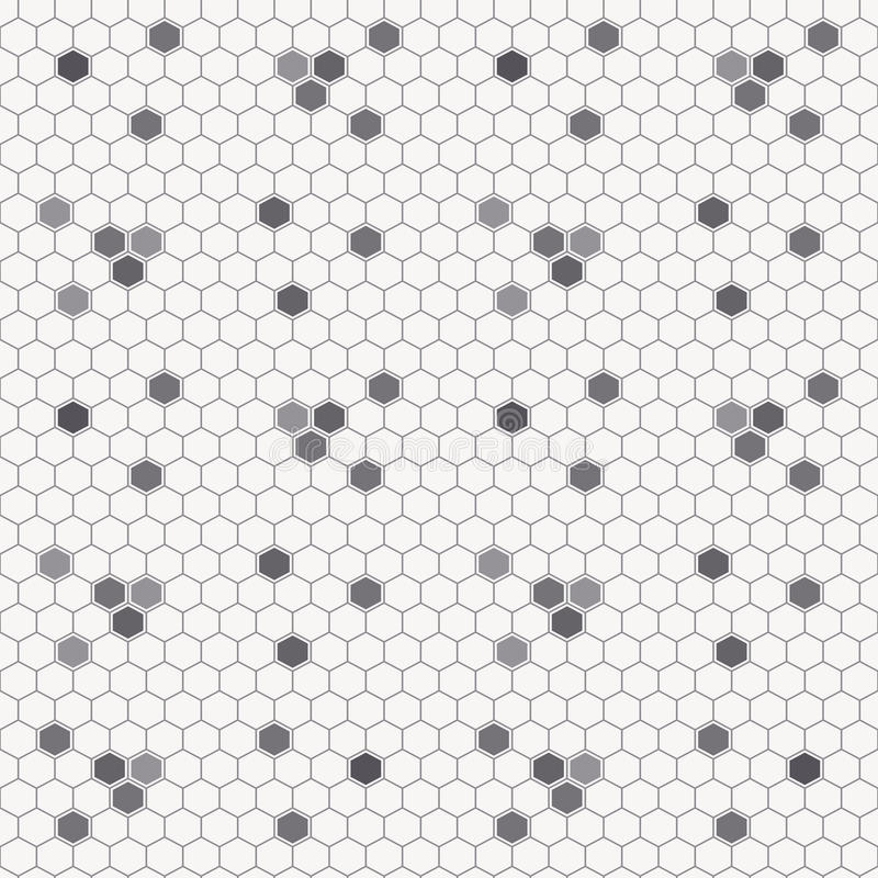 Seamless honey pattern with outlined honey cells vector illustration
