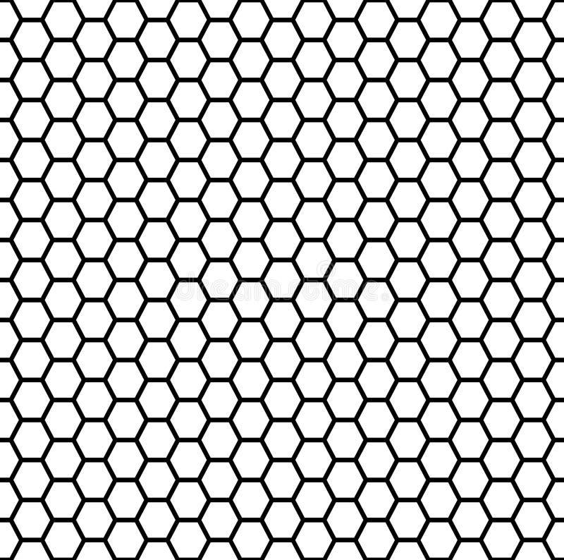 Seamless honeycomb stock illustration