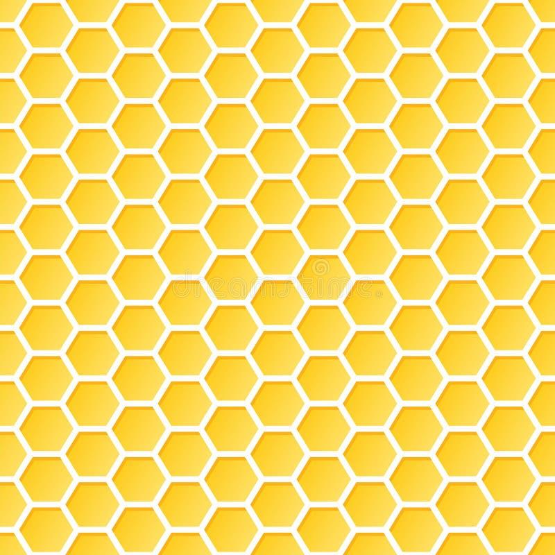 seamless honungskakamodell royaltyfri illustrationer