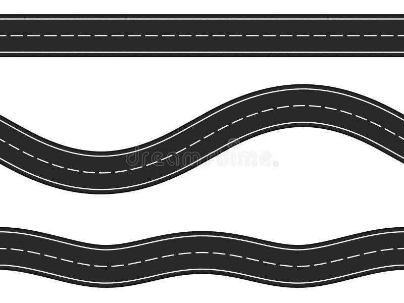 Seamless Horizontal Roads stock vector. Illustration of ...