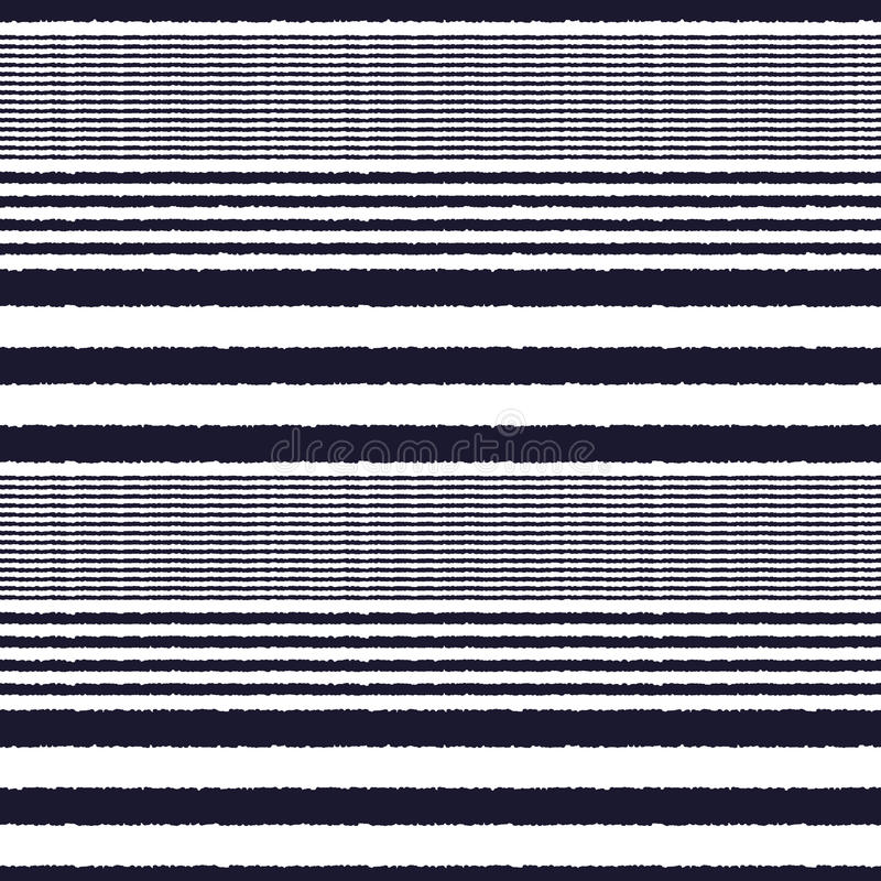 Seamless horizontal stripes fabric pattern vector illustration