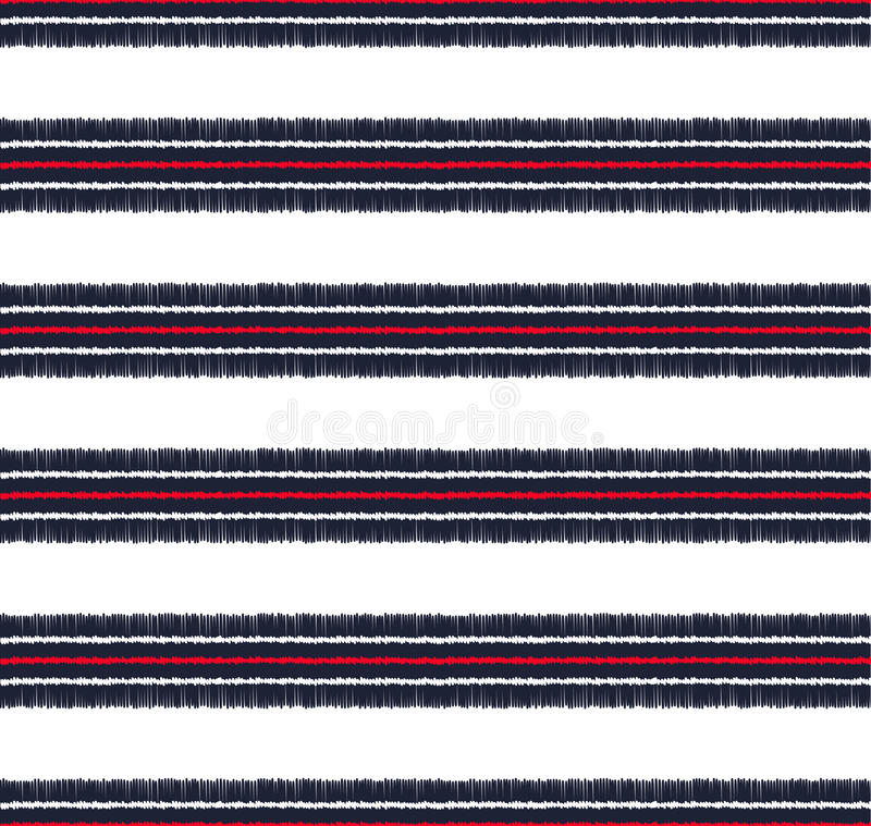 Seamless horizontal stripes pattern vector illustration
