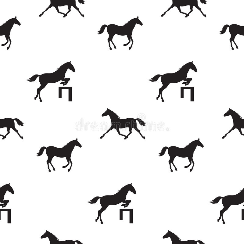 Seamless horses vector illustration