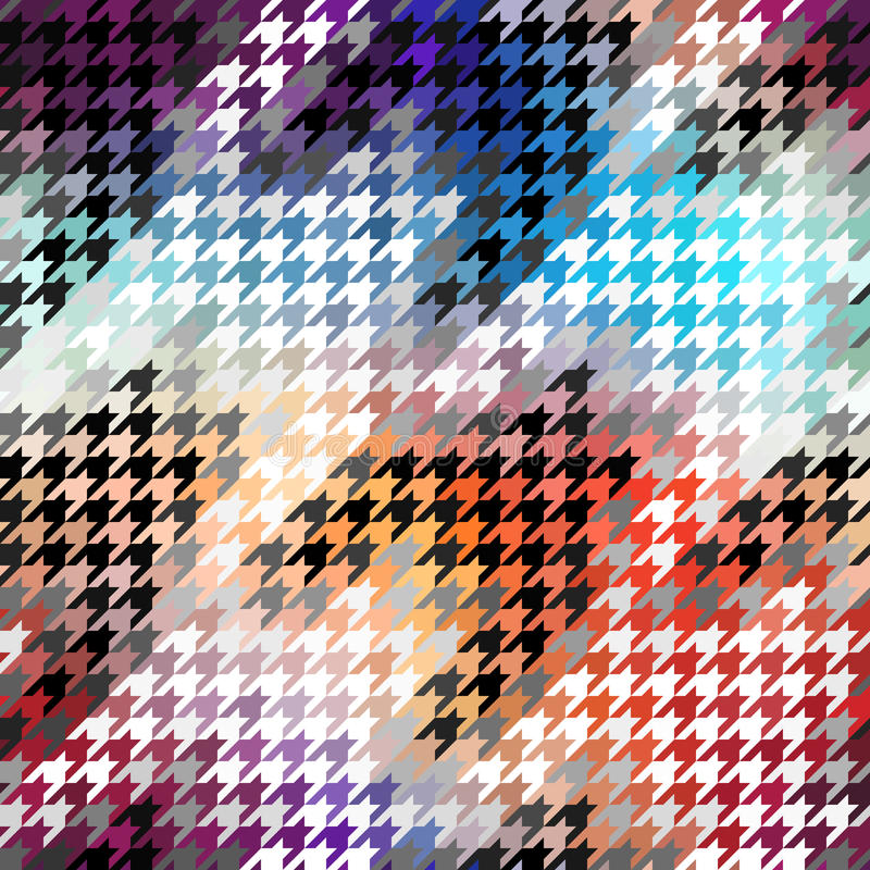 Seamless Hounds-tooth pattern royalty free illustration
