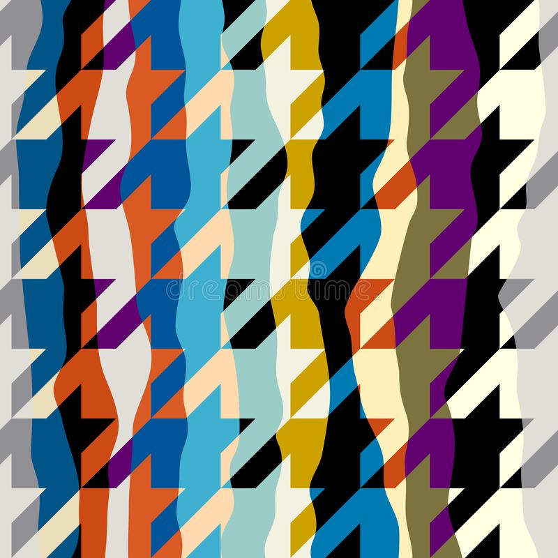 Seamless Hounds-tooth pattern stock illustration