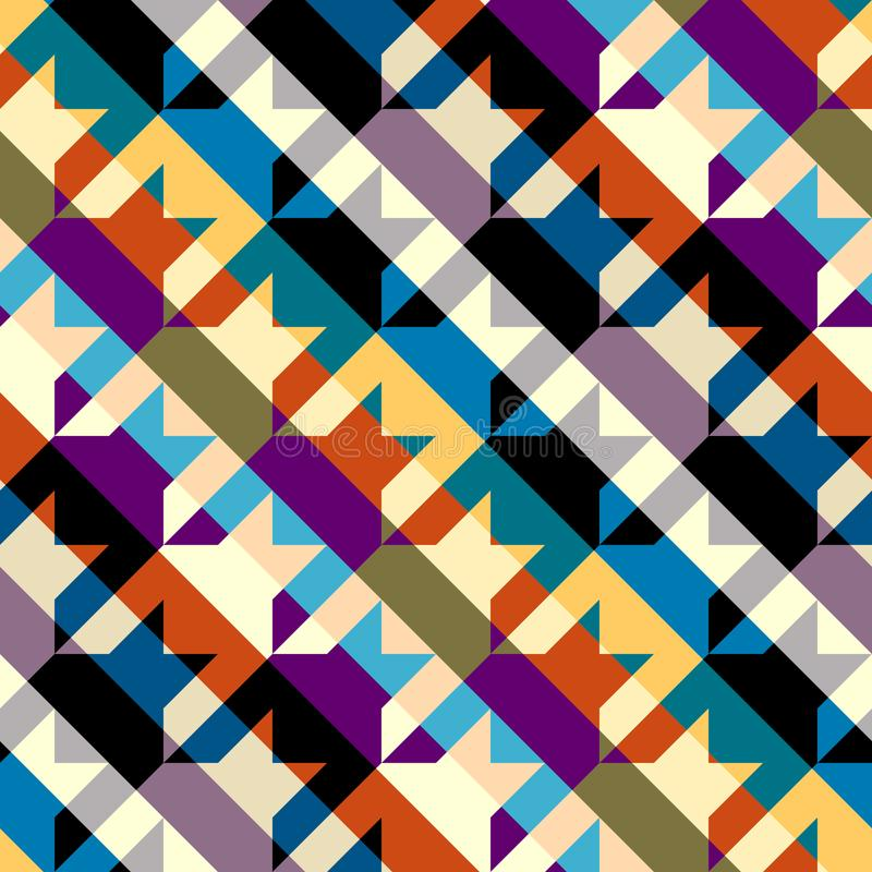 Seamless Hounds-tooth pattern Vector Illustration. stock illustration