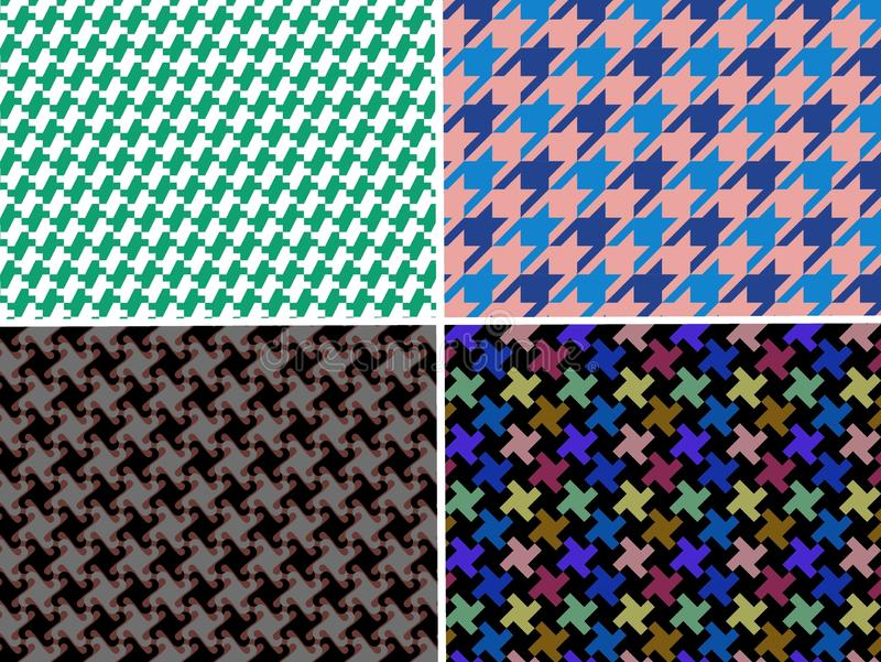 Seamless houndstood pattern background . Fabric, checkered, plaid, repeat, wrapping, geometric, decor, wallpaper, set, collect, blanket, creative, graphic royalty free stock photos