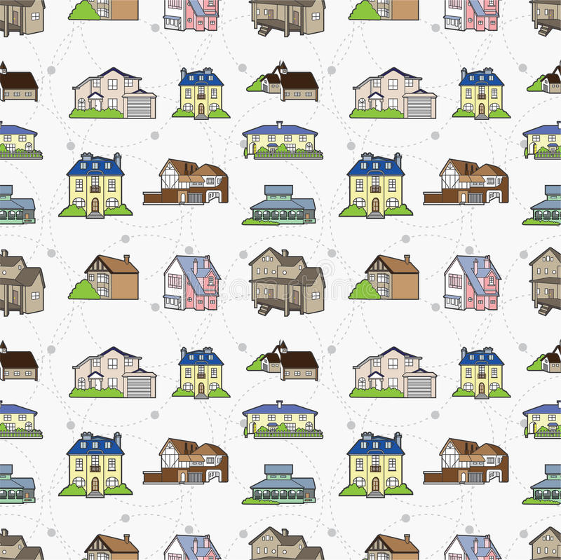 Download Seamless house pattern stock vector. Illustration of icon - 17261048