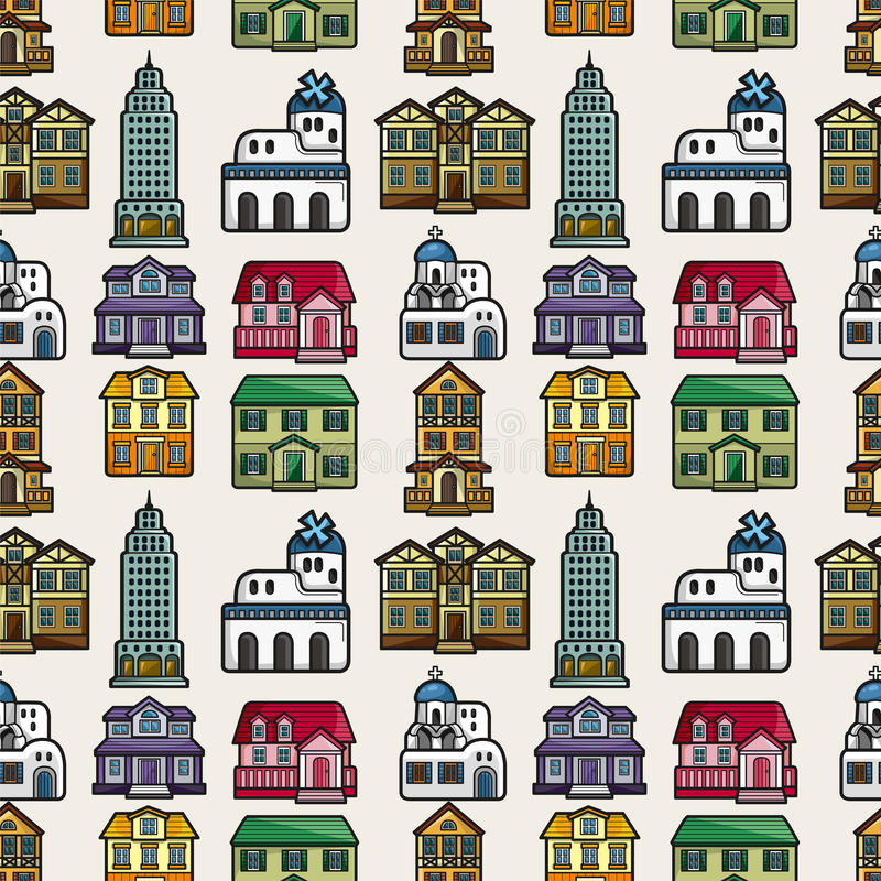 Download Seamless house pattern stock vector. Image of agent, church - 23572409