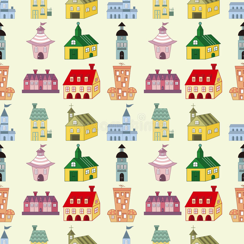 Download Seamless house pattern stock vector. Illustration of modern - 28150705