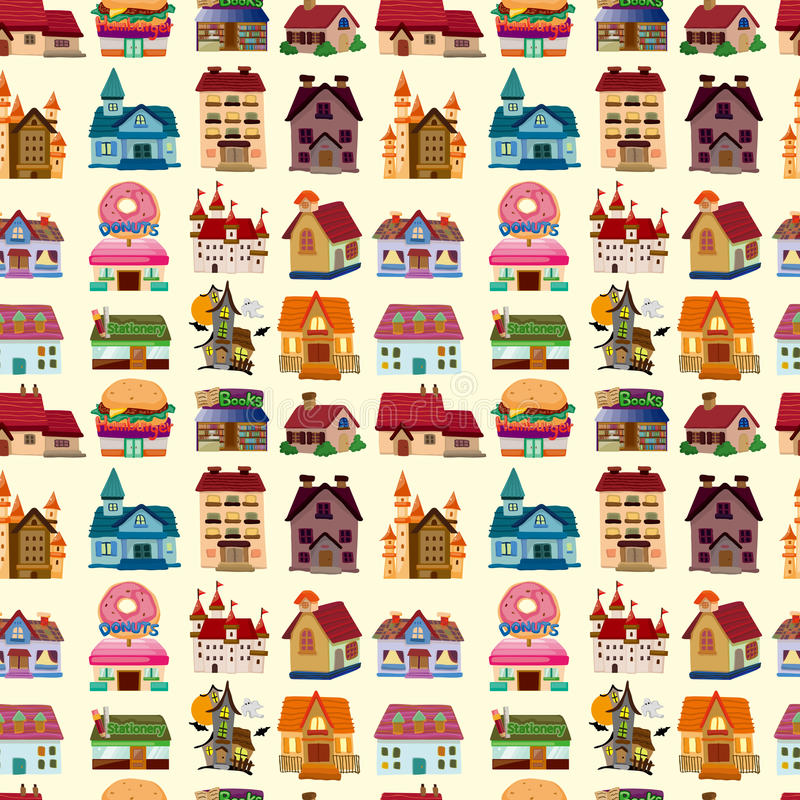Download Seamless house pattern stock vector. Image of exterior - 31115586