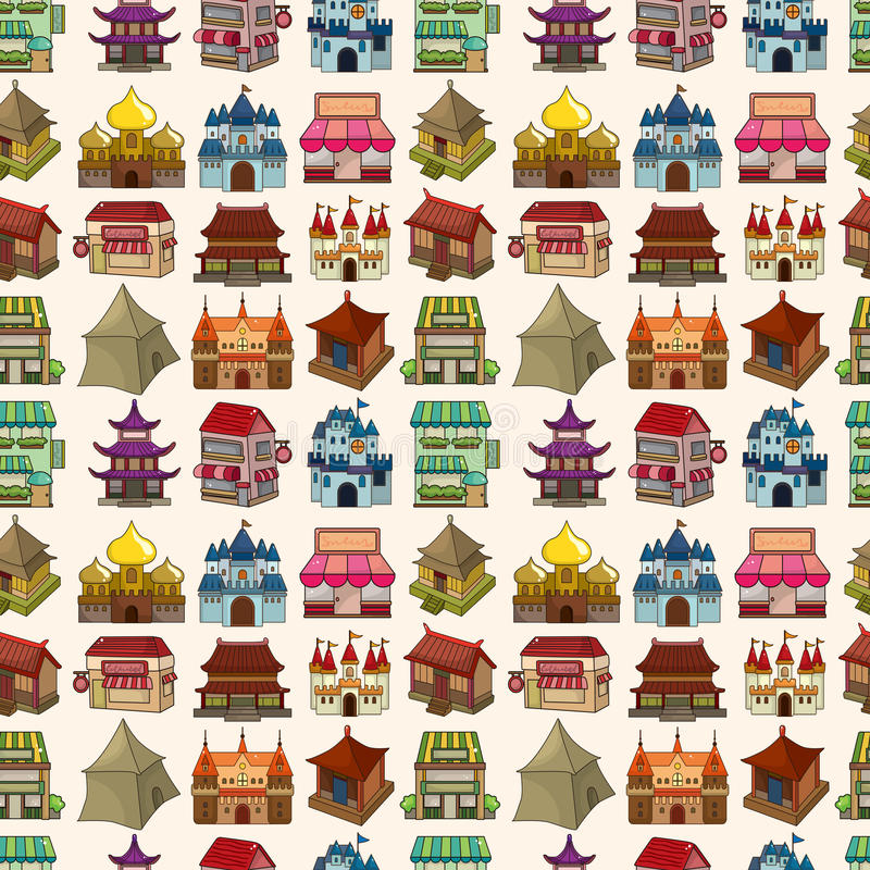 Download Seamless house pattern stock vector. Image of house, castle - 31168419