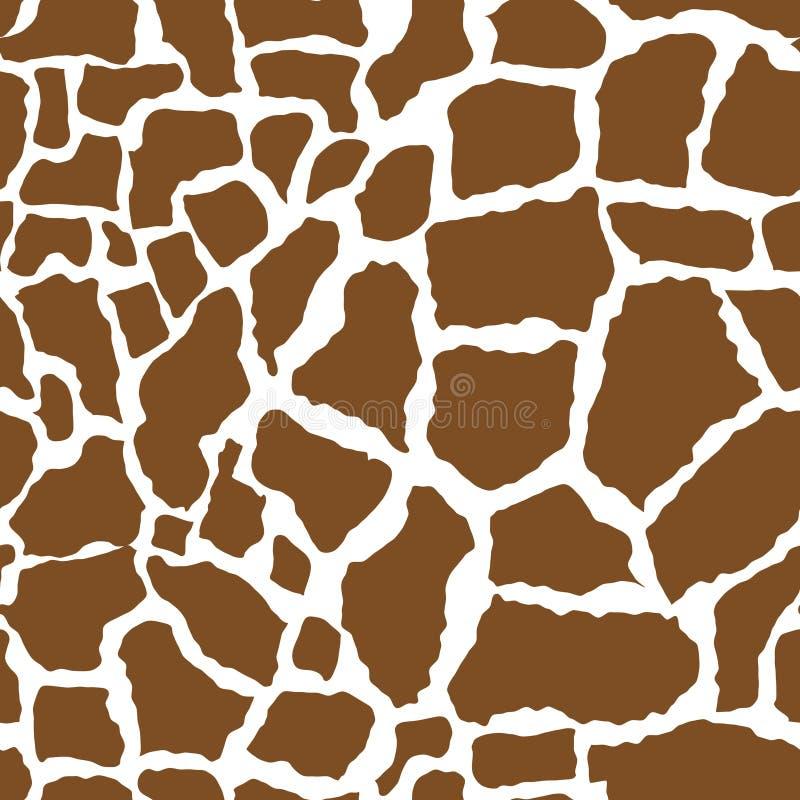 seamless hud för giraffmodell Ändlös bakgrund för afrikanskt djurbegrepp som upprepar textur också vektor för coreldrawillustrati vektor illustrationer