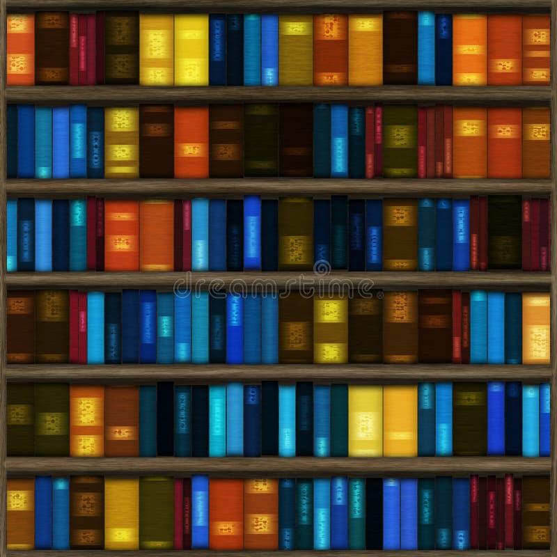 seamless hylla för bok stock illustrationer