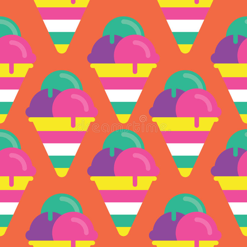 Seamless Ice cream Pattern, Candy Vector royalty free stock photos