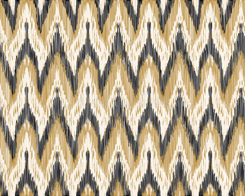 Seamless Ikat Pattern. Abstract background vector illustration