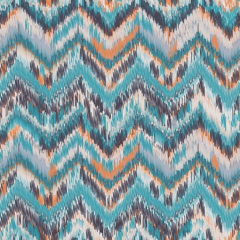 Seamless Ikat Pattern royalty free illustration