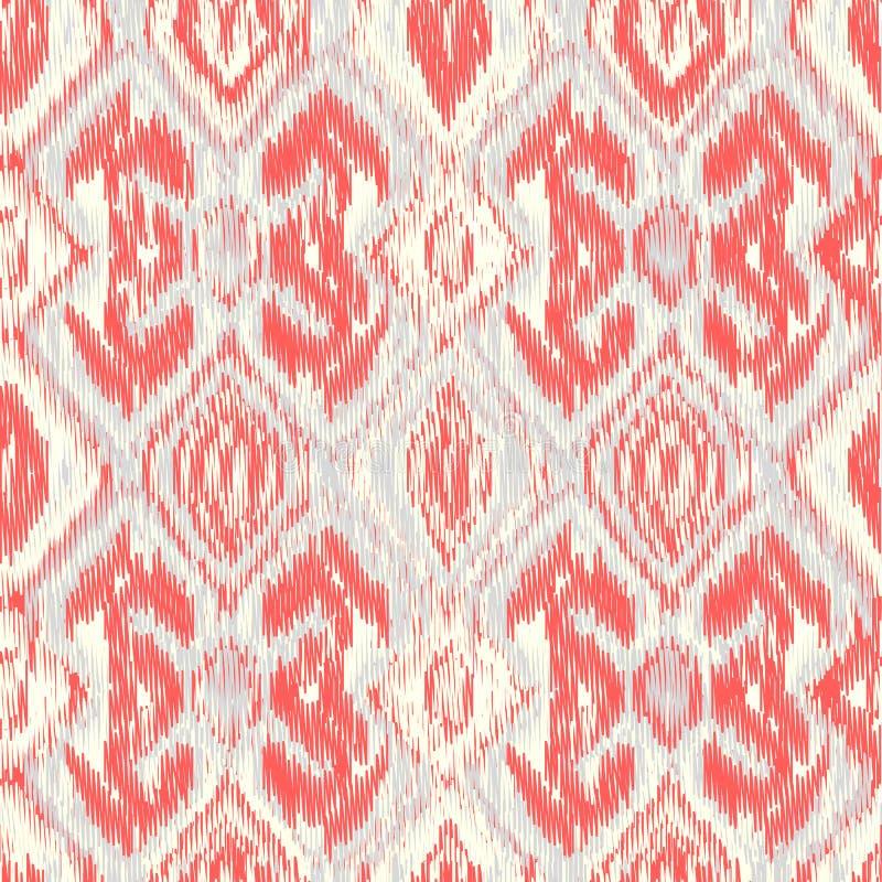 Seamless Ikat Pattern vector illustration